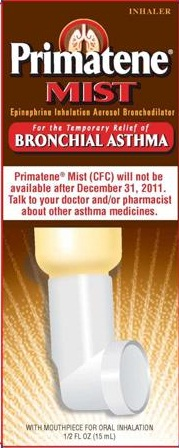 Primatene Mist With Cfc To Disappear Medicine Going